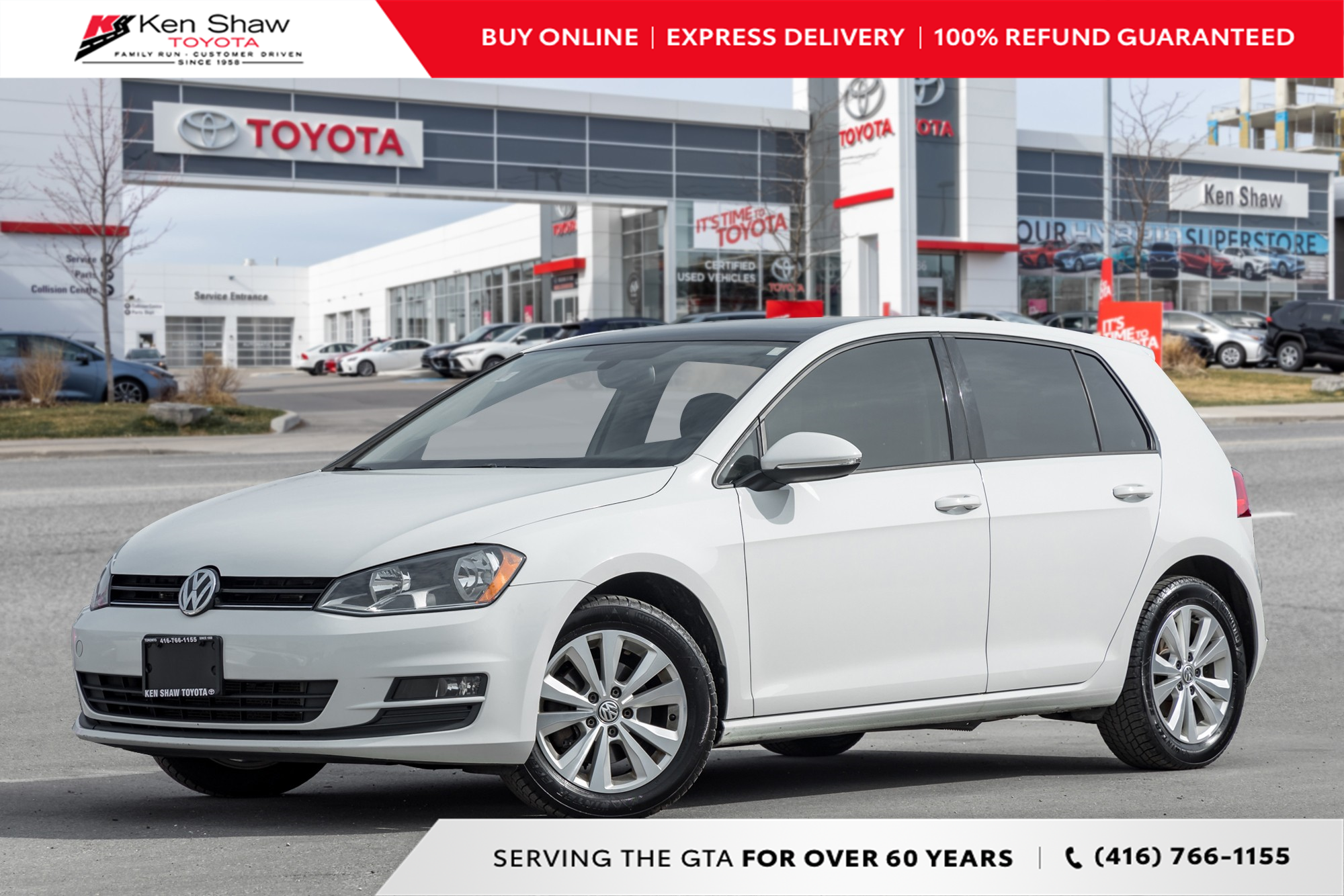 used 2015 Volkswagen Golf car, priced at $11,488
