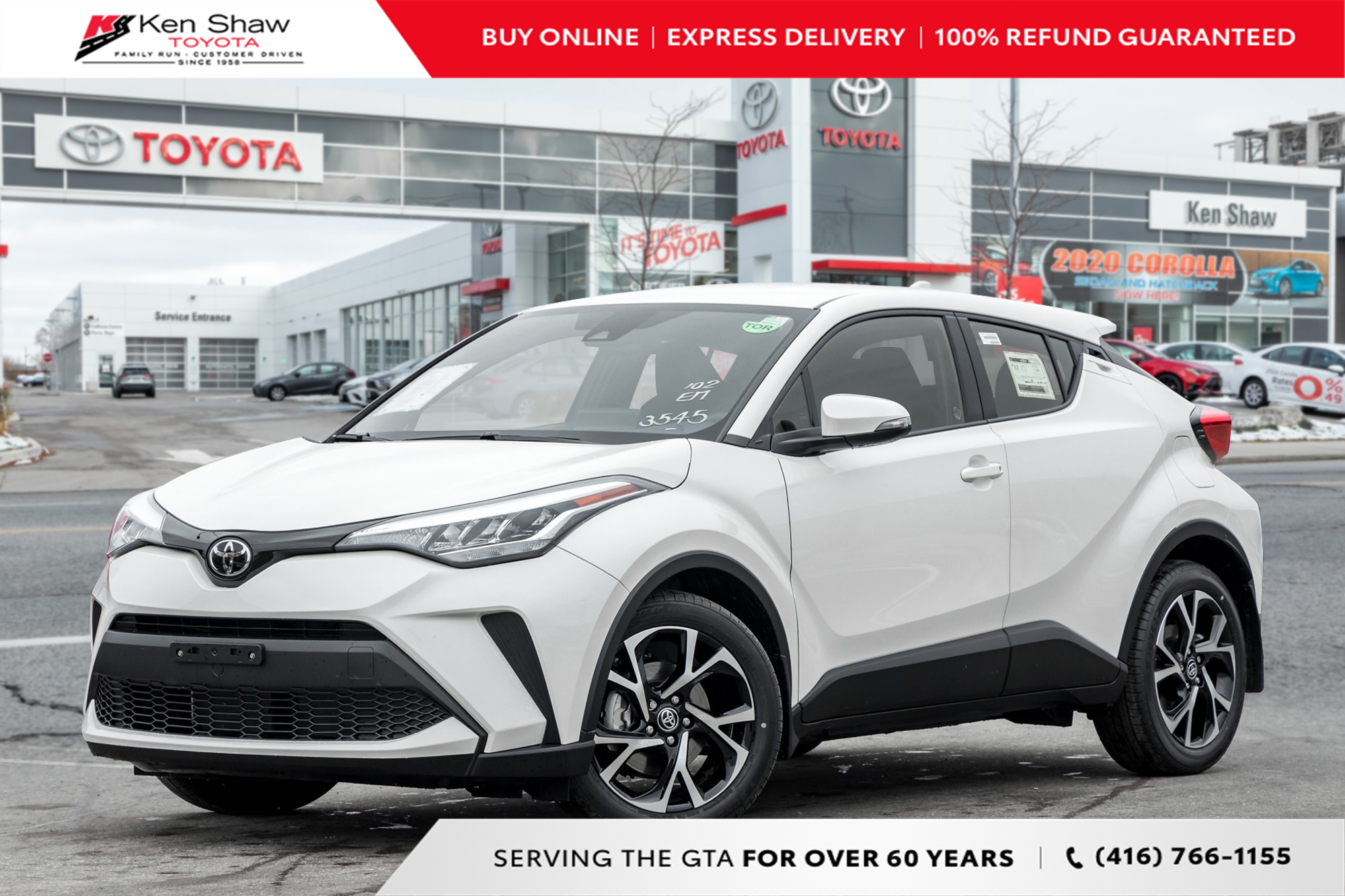 new 2021 Toyota C-HR car, priced at $30,323