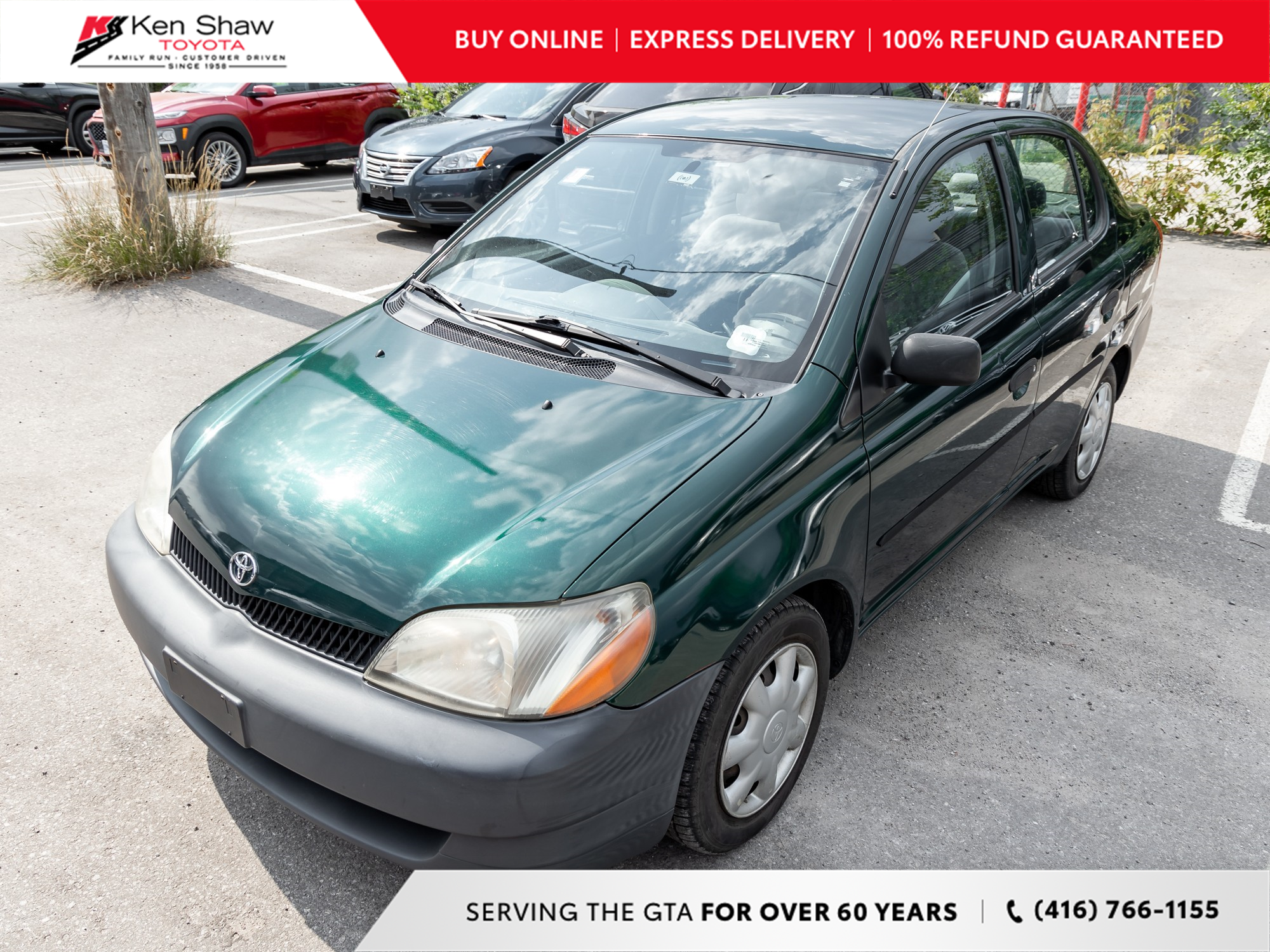 used 2002 Toyota ECHO car, priced at $1,695