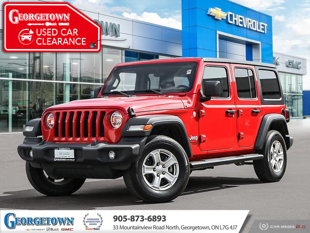 used 2018 Jeep Wrangler Unlimited car, priced at $43,898